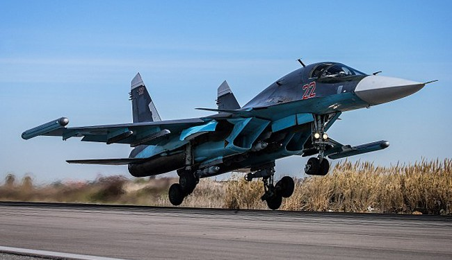 VIDEO: Russia's Su-34 Jets Pound ISIS in Syrian Cities from Iran Military Airbase