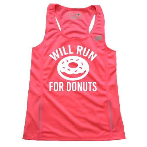 Women's Will Run for Donuts Singlet
