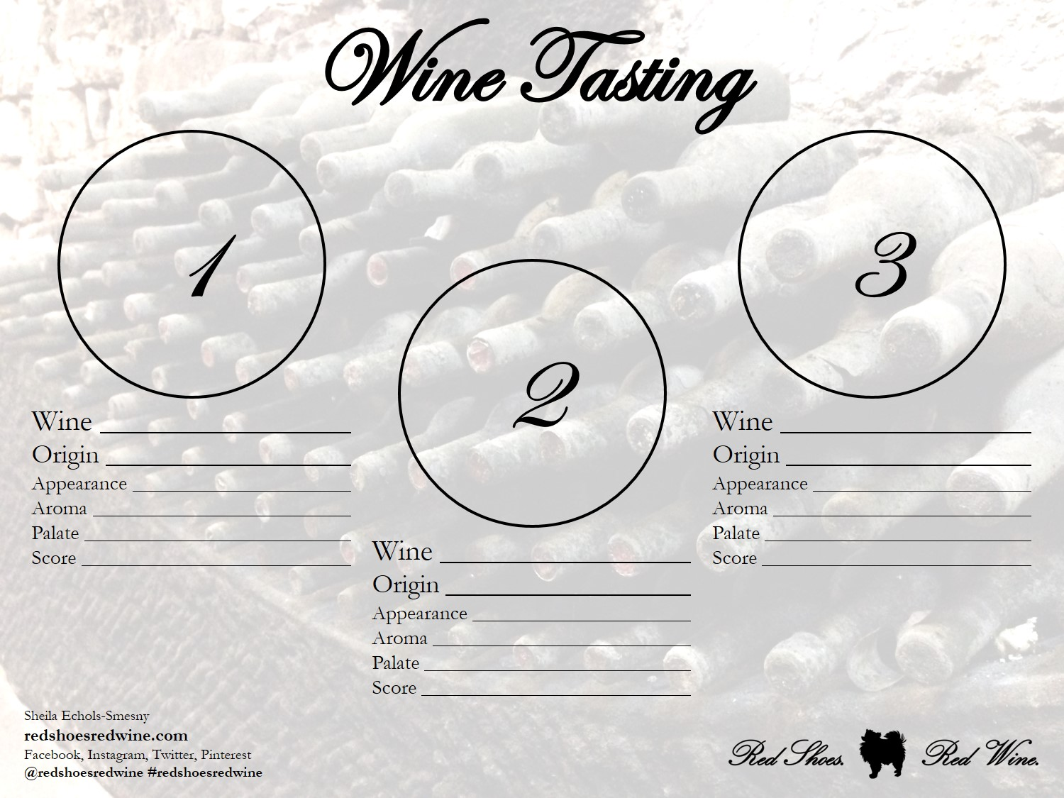 Wine Tasting Sheets For Home Use Red Shoes Red Wine