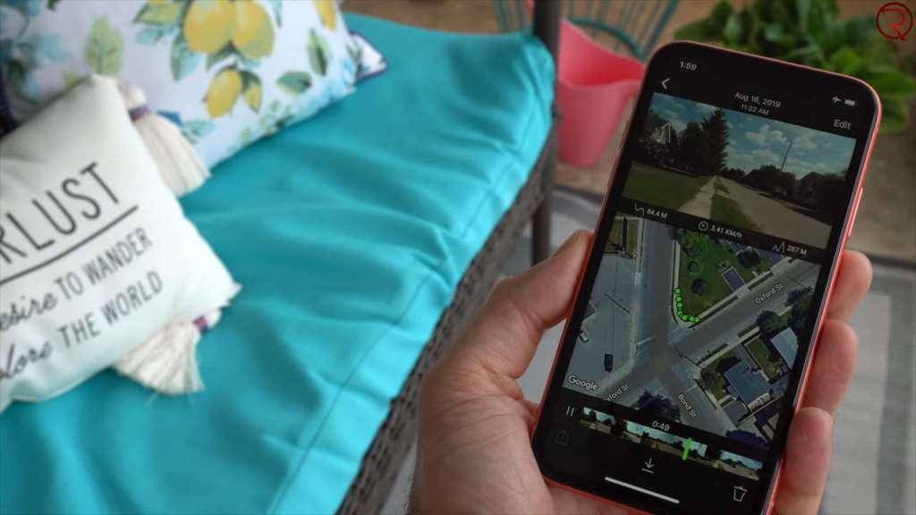 OCLU action camera App GPS + video