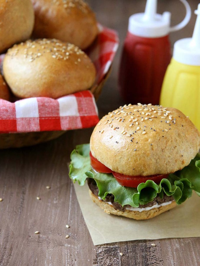 Whole Wheat Brioche Burger Buns | Red Star Yeast