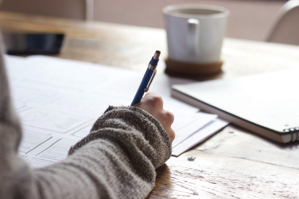 Making a list of six items to accomplish the next workday