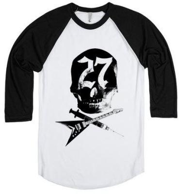 skull t-shirt baseball