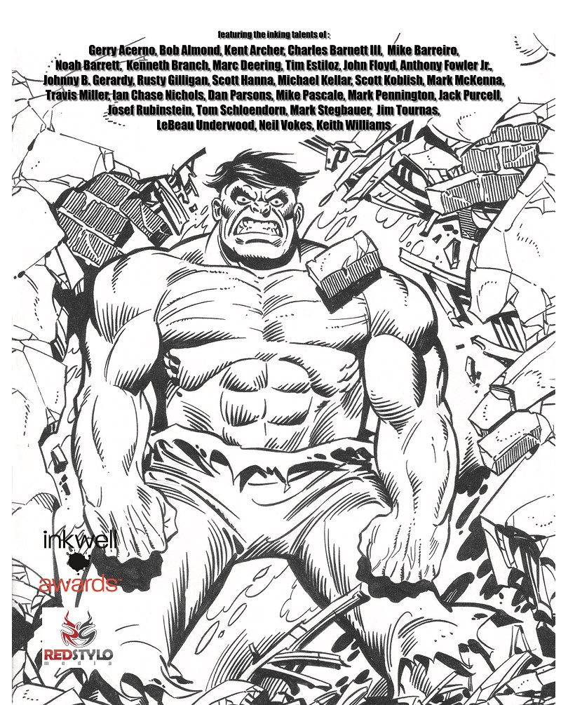 back cover, The Joe Sinnott Inking Challenge participants listed alphabetically