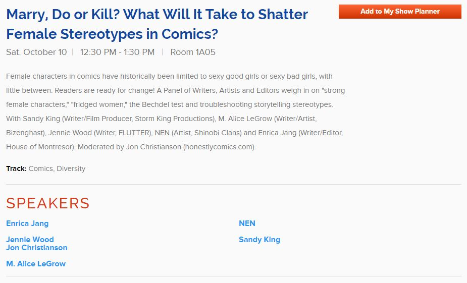"New players for Red Stylo's ""Marry, Do, or Kill"" panel at NYCC!"