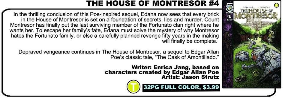 In Previews now: HOUSE OF MONTRESOR #4 (The thrilling conclusion! Dun dun dun!)
