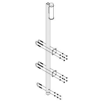 soporte superior 6116280 para línea de vida lad-saf