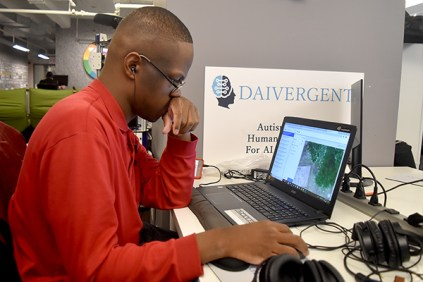 CC Leon Campbell at his desk at Daivergent headquarters