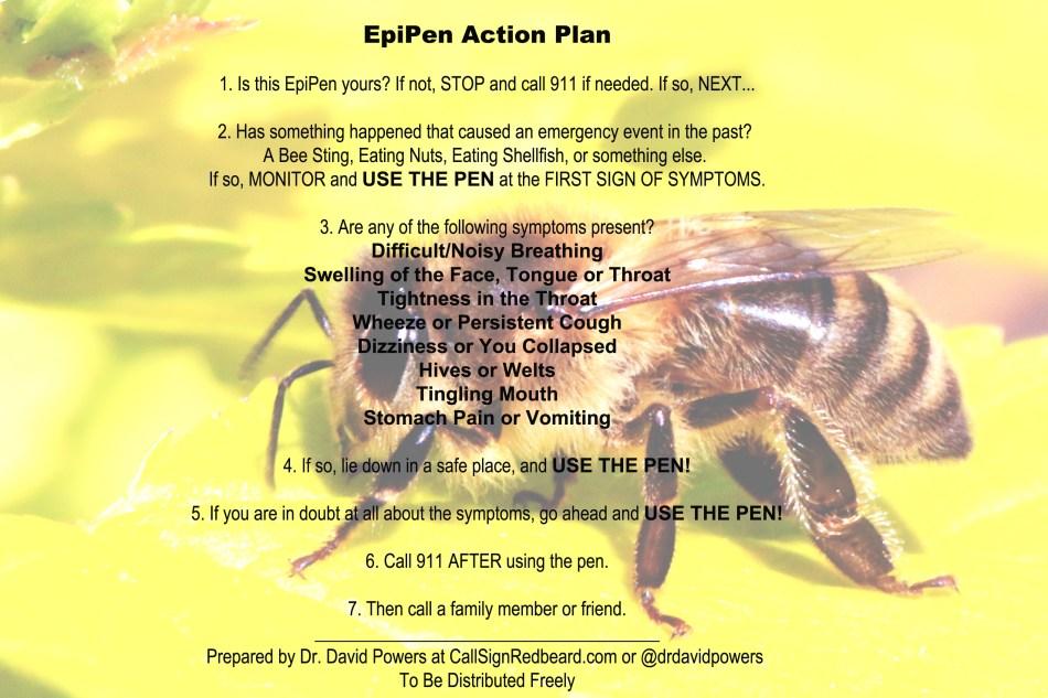 EpiPen Action Plan