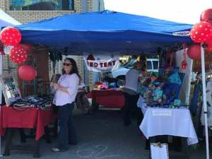 Indie Market Red Tent Booth