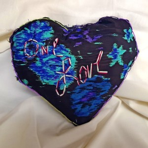 One Love Heart-Shaped Pillow