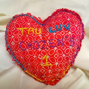 Tru Luv Chozen's 1 Heart-Shaped Pillow