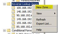 reverse lookup zone1