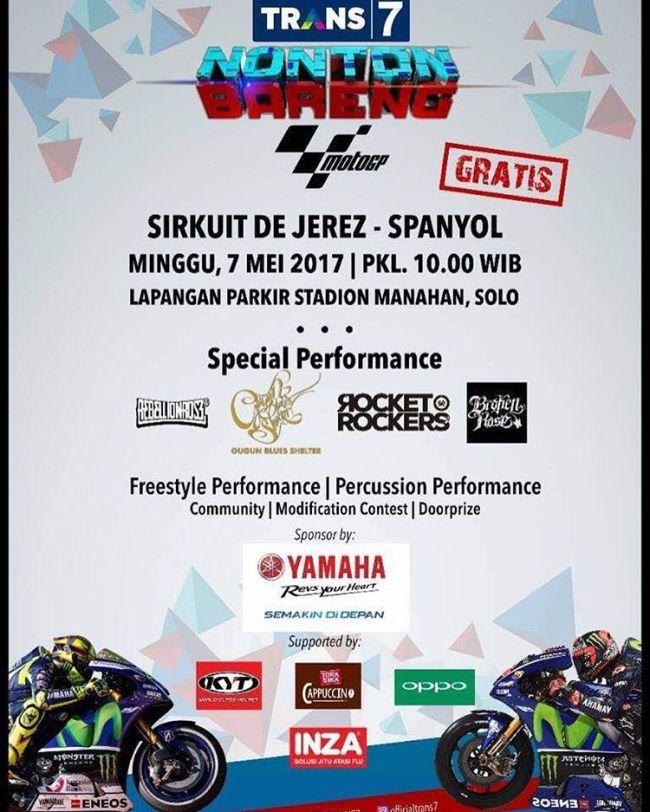Trans7 Nonton Bareng MotoGP Sambangi Kota Solo