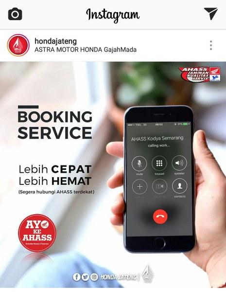 Mau Booking Service untuk Motor Honda Anda? Begini Caranya
