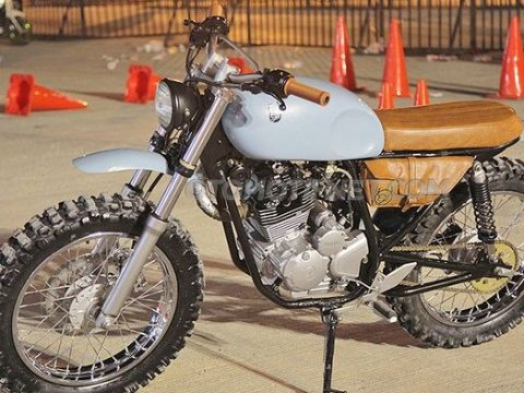 Yamaha Scorpio Modifikasi Vintage Tracker