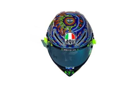 Desain Helm Huichols Valentino Rossi