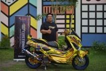 Suhang Wong pemenang semifinal kelas NMAX CustoMAXI Banjarmasin_800x533