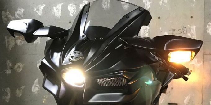Kawasaki Z125 Pro Dimodif Menjadi Ninja H2