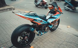 Modifikasi Yamaha Exciter Bergaya BMW S1000RR