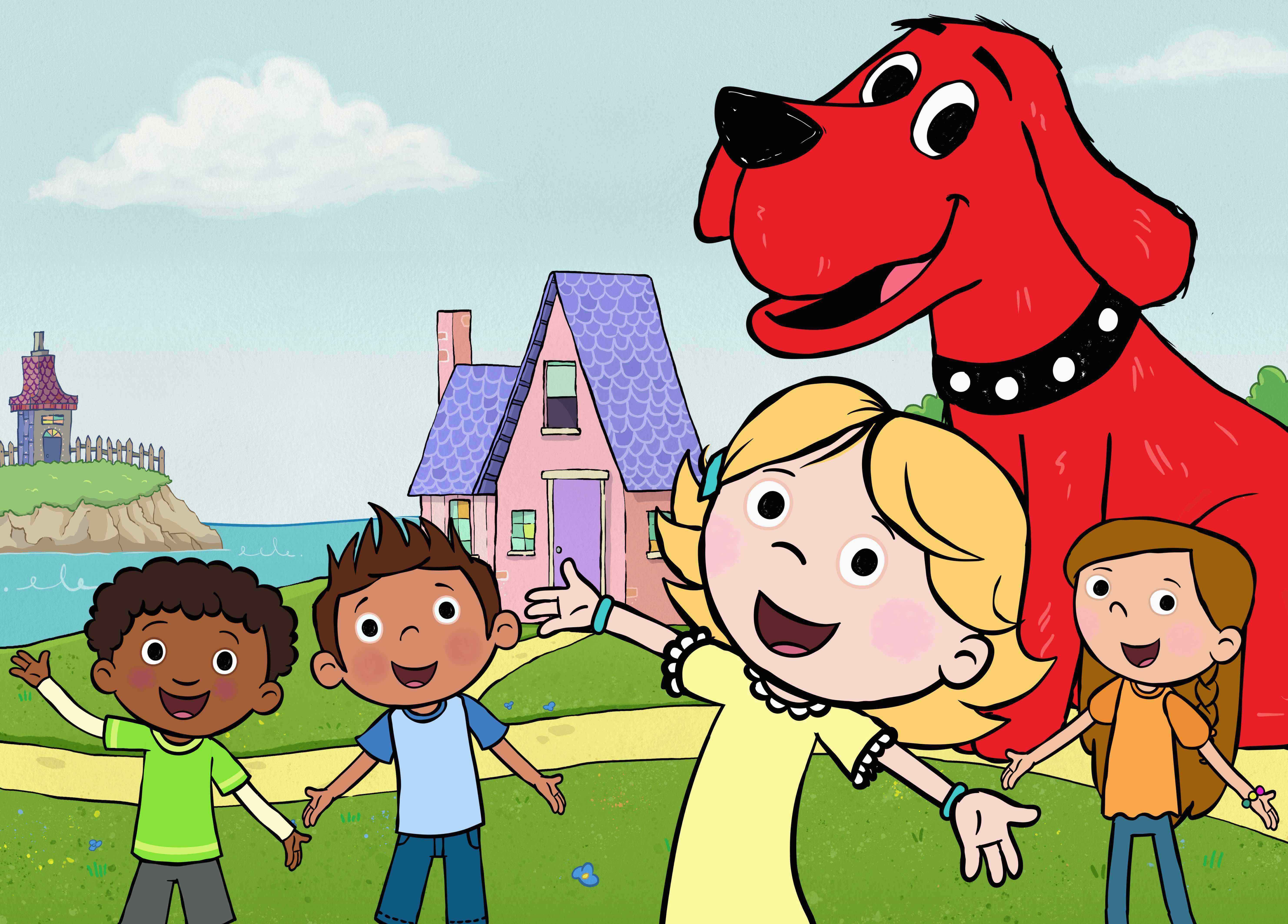First Look Clifford The Big Red Dog Reboot Premiering