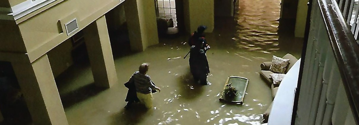 Residents trying to escape as Harvey's floodwaters rose