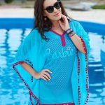 Rochie StarShinerS De Plaja Sunny Days Turquoise