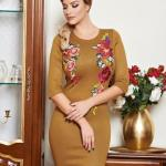 Rochie LaDonna Colourful Roses Brown