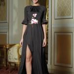 Rochie eleganta lunga Artista neagra cu maneci clopot