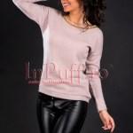 Bluza dama crem-roze