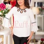 Bluza ivoire cu model negru