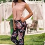 Bluza lejera de vara roz pudra