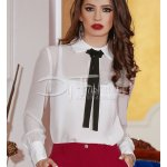 Bluza White Black Detail