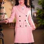 Palton dama lana roz pal prafuit