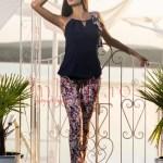 Pantaloni bumbac imprimeu floral diverse culori