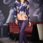 Pantaloni dama mov de piele ecologica