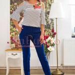 Pantaloni de dama albastru inchis