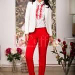 Pantaloni de dama rosii