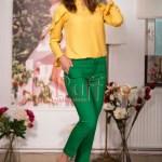 Pantaloni verzi trei sferturi