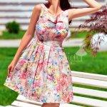 Rochie Anais cu Flori Pastelate