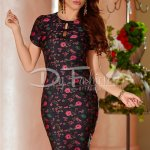 Rochie Black Bowly Flowers