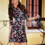 Rochie Black Flowers Surprise