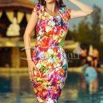 Rochie Erica cu Imprimeu Divers si Colorat