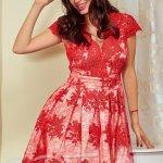 Rochie Irisal Red Beige