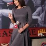 Rochie midi cu imprimeu alb-negru
