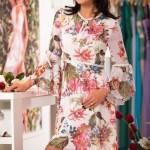 Rochie midi lejera cu imprimeu floral