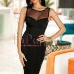 Rochie neagra eleganta din bistrech