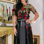 Rochie Selena Neagra Cu Broderie