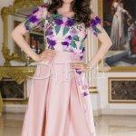 Rochie Selena Roz Pudrat Din Tafta