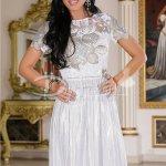 Rochie Silvery De Seara Cu Paiete
